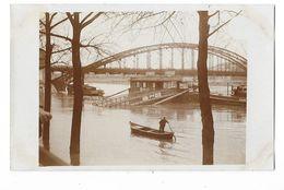 PARIS (75) Carte Photo Inondations La Seine Au Pont Du Métropolitain D'Austerlitz - Inondations De 1910