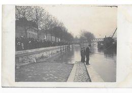 PARIS (75) Carte Photo Inondations La Seine Près Du Viaduc Du Métropolitain D'Auteuil - Inondations De 1910