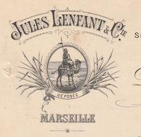 1894 / Jules LENFANT / Cafés Légumes / Spécialité Dattes Muscades De Tunisie / 13 Marseille BDR - 1800 – 1899
