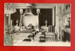 """C.P.A.  ( 77 )  """" PALAIS De FONTAINEBLEAU """" La Salle Du Trône     (voir Les 2 Scans) - Fontainebleau"""