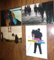 4 Cartes Postales - Claudine Nougaret, Raymond Depardon (photographe) Journal De France (au Cinéma Le 13 Juin) - Illustrators & Photographers