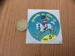 AUTOCOLLANT, Sticker «jeunesse Au Plein Air 5F» 1987 (Cheval) - Adesivi