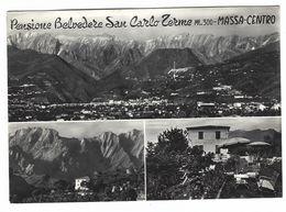 CLA327 - PENSIONE BELVEDERE SAN CARLO TERME MASSA CENTRO 1960 - Massa