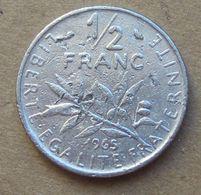 Errore Conio 1965 FRANCIA  ½ Franc (O. Roty) - Circolata - Francia