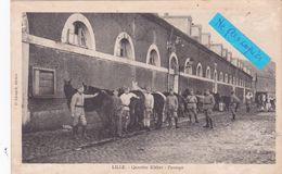 59-LILLE-QUARTIER KLEBER- PANSAGE- MILITAIRES- CHEVAUX-Editeur P. LEONARD- - (4/7 /20) - France