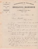 1911 Facture HORLIER BARROIS / Charron / 52 Cheminon La Ville / Haute-Marne - Francia