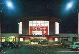 Dijon. La Gare La Nuit. Automobile Peugeot 203. - Dijon