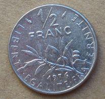 1976  FRANCIA  ½ Franc (O. Roty) - Circolata - Francia
