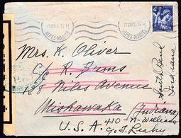 France 1945 / CENSORSHIP - ZENSUR - CENSURE - ZENSURE / Controle (P.A.Y.) 388 / Sent To United States - France