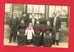 1 Carte Photo ... Commerce Café Au Dos Genre Cachet De Prisonnier De Guerre  Kriegsgef Lager ( Le Reste Peu Lisible ) - A Identifier