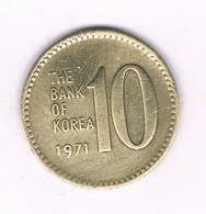 10 WON 1971  ZUID KOREA /5334/ - Coreal Del Sur