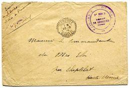 PRISONNIERS DE GUERRE * 17e REGION *  Dépot DE SEDIÈRES (Corrèze) + CLERGOUX CORREZE - Postmark Collection (Covers)
