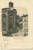 2265  - Italie - PERUGIA  :   CHIESA DI SANT'ERCOLANO E PORTA MARZIA                  CIRCULEE 1901 - Perugia