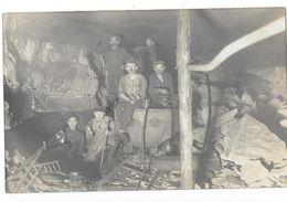 INTERIEUR D'UNE GALERIE DE MINES Carte Photo Mineurs Gros Plan - Mineral