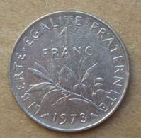 1973  FRANCIA  1 Franco (O. Roty) - Circolata - Francia