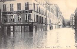 75 - PARIS 07° - INONDATIONS De PARIS ( Janvier 1910 ) CAFE ESTAMINET - AQUARIUM Rue Surcouf / Quai D'Orsay - CPA Seine - De Overstroming Van 1910