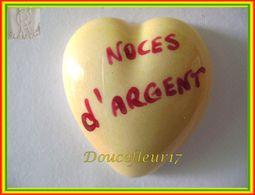 Clamecy ...Coeur Jaune écrit Rouge ... Noces D'Argent .. Ref : Avant 1993 - Oude