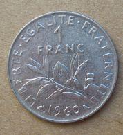 1960  FRANCIA  1 Franco (O. Roty) - Circolata - Francia