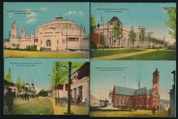 GENT  12 KAARTEN  EXPO 1913    4 AFBEELDINGEN - Avvisi Di Necrologio