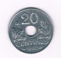 20 CENTIMES 1942  FRANKRIJK /5340/ - Francia