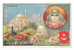 CONSTANTINOPLE (Turquie) Mosquée Sainte Sophie Chromo Publicitaire Chocolat Masson - Turchia