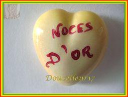 Clamecy ... Coeur Jaune écrit Rouge ... Noces D'Or .. Ref : Avant 1993 - Antiguos