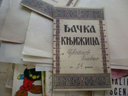 Djacka Knjizica Student Book Nj V Kralj Petar Dunavska Banovina - Historische Dokumente