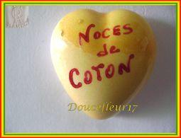 Clamecy ... Coeur Jaune écrit Rouge ... Noces De Coton .. Ref : Avant 1993 - Oude