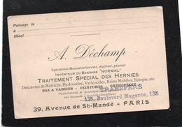 Vieux Papiers > Cartes De Visite A.Dechamp Spécialiste Herniaire - Visiting Cards