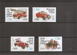 Pompiers - Voitures De Pompiers ( 1480/1483 XXX -MNH- Du Chili) - Firemen