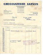2 Factures 1929 / 21 DIJON BRAZEY EN PLAINE / Chocolat LANVIN - Alimentare