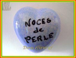 Clamecy ... Coeur Bleu écrit Noir ... Noces De Perle .. Ref : Avant 1993 - Antiguos