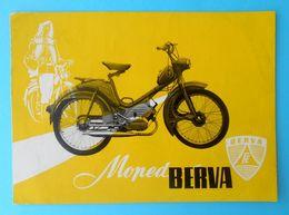 BERVA MOPED - Hungary Original Vintage Sales Brochure * Motorcycle Motorbike Moto Motorrad Pannonia - Motos