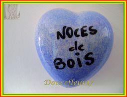 Clamecy ... Coeur Bleu écrit Noir ... Noces De Bois .. Ref : Avant 1993 - Antiguos