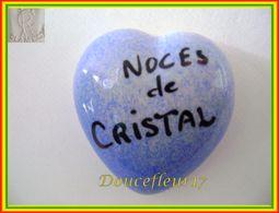 Clamecy ... Coeur Bleu écrit Noir ... Noces De Cristal .. Ref : Avant 1993 - Oude