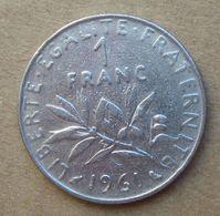 1961  FRANCIA  1 Franco (O. Roty) - Circolata - Francia