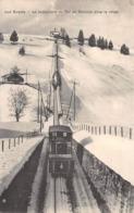 CPA  Suisse, LES AVANTS, Le Funiculaire Du Col De Sonloup Sous La Neige - VD Vaud