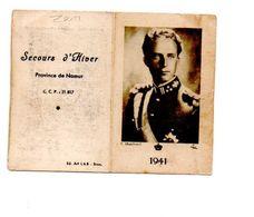 CALENDRIER 1941. SECOURS D' HIVER. PROVINCE DE NAMUR. - Calendriers