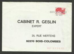 Griffe BOIS COLOMBES 92-009 / Timbre Liberté De Gandon - Marcophilie (Lettres)