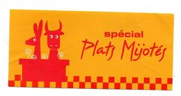 Autocollant Spécial Plats Mijotés - Format : 7.5x16cm - Adesivi