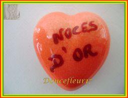 Clamecy ... Coeur Rouge écrit Grenat... Noces D'Or .. Ref : Avant 1993 - Antiguos
