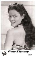 GENE TIERNEY (PB35) - Film Star Pin Up PHOTO POSTCARD - Pandora Box Edition Year 2007 - Femmes Célèbres