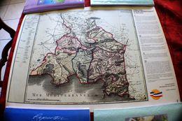 CARTE GÉOGRAPHIQUE DES BOUCHES DU RHONE DÉCRÉTÉE LE 9 FEV 1790 PAR ASSEMBLÉE NATIONALE DIVISÉ EN 6 DISTRICTS-42 CANTONS- - Landkarten