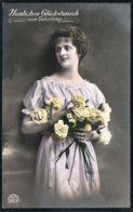 D7953 - Hübsche Junge Frau Im Kleid - Mode Frisur - Coloriert - Feldpost 1. WK WW Naunhof Bei Leipzig Rotes Kreuz - Mode