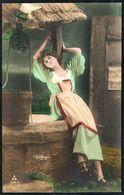 D7954 - Hübsche Junge Frau Im Kleid - Mode Frisur - Coloriert - Pretty Young Women - Radium Brom - Reutlingen - Mode