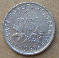 1968  FRANCIA  1 Franco (O. Roty) - Circolata - Francia