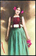D7955 - Hübsche Junge Frau Im Kleid - Mode Frisur - Coloriert - Pretty Young Women - Gel Dresden Neustadt 6 - Mode
