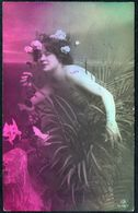 D7956 - Hübsche Junge Frau Im Kleid - Mode Frisur - Coloriert - Pretty Young Women - Gel Cunewalde Löbau - Mode