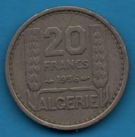 ALGERIE 20 FRANCS 1956 KM# 91 REPUBLIQUE FRANÇAISE - Algérie