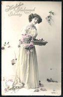 D7957 - Hübsche Junge Frau Im Kleid - Mode Frisur - Coloriert - Pretty Young Women - Gel Bautzen 1 - Mode